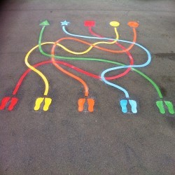 Traditional Playground Games Markings in Derry 2