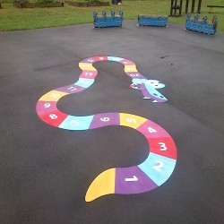 Playground Floor Markings in Abernant 7