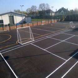 Relining Play Surface Markings in Ballards Gore 6