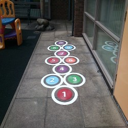 Playground Floor Markings in Aberangell 11