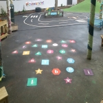 Playground Floor Markings in Woodgate 11