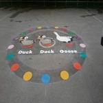 Playground Floor Markings in Berners Roding 5