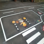 Thermoplastic Playground Markings in Aldersey Green 2
