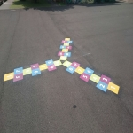 Traditional Playground Games Markings in Bodymoor Heath 1