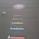 Playground Markings Games in Bangor on Dee/Bangor-is-y-coed 12