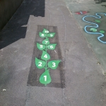 Playground Floor Markings in Abernant 6
