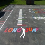 Playground Floor Markings in Ballidon 1