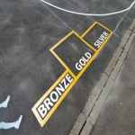 Thermoplastic Playground Markings in Pentre-cefn 1
