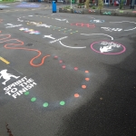Thermoplastic Playground Markings in Prees Wood 2