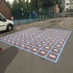 Thermoplastic Playground Markings in Aldersey Green 3