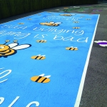 Relining Play Surface Markings in Appley 3
