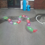 Playground Floor Markings in Woodgate 4