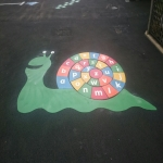 Tarmac Play Area Painting in Abington Pigotts 5