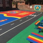 Tarmac Play Area Painting in Abington Pigotts 7