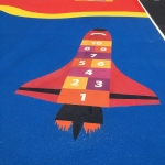 Playground Floor Markings in Lamplugh 1