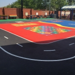 Relining Play Surface Markings in Brampton 1