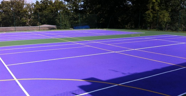 MUGA Line Painting in Barrow Hill