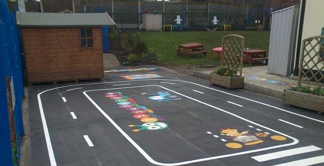 Play Area Graphics in Aberwheeler/Aberchwiler
