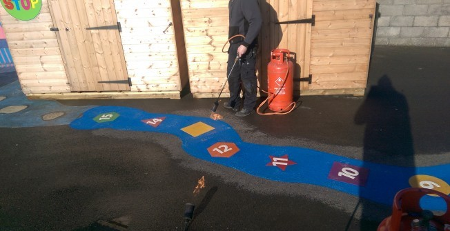 Thermoplastic Graphics in Alderman's Green
