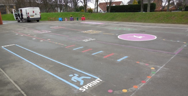 Recreational Activity Markings in Blackwood/Coed Duon