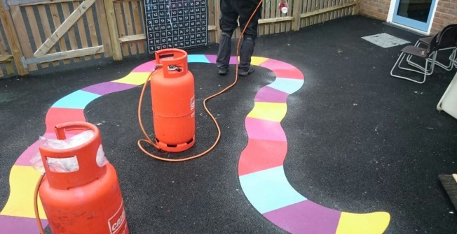Plastic Play Surface Designs in Aldersey Green