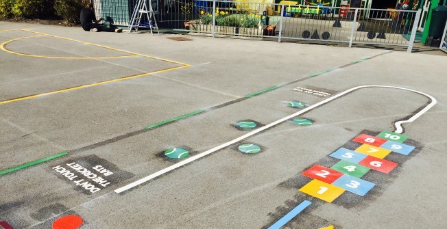 Re-Marking Play Surfaces in Dorset
