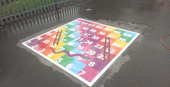 Relining Playground Markings in Bridestowe