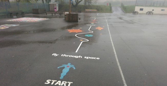 Playground Graphics Reapplication in Monmouthshire