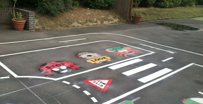 Kindergarten Playground Markings in Abercraf