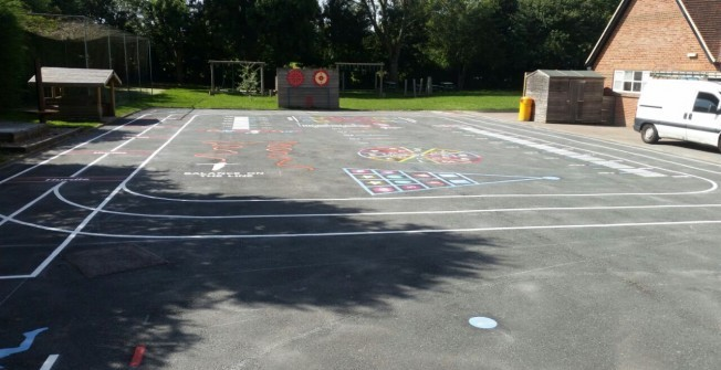 Tarmac Sports Markings in Denbighshire