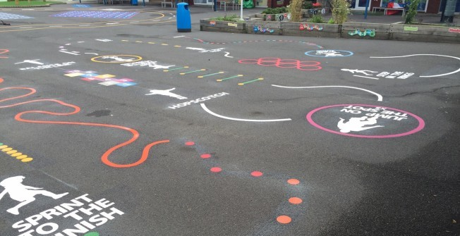 Kids Fitness Trail Marking in Coleraine