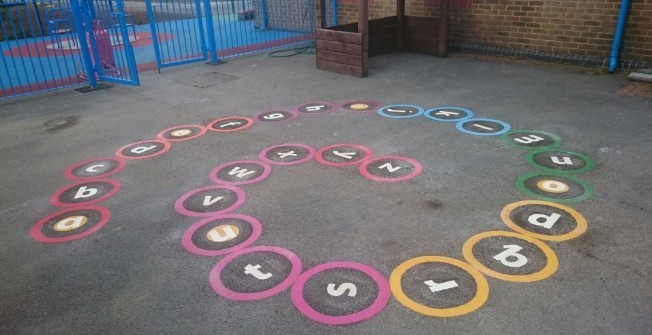 Tarmacadam Play Area Markings in Orkney Islands