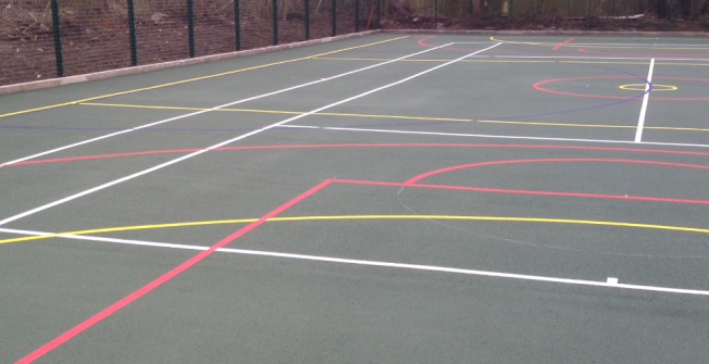 Line Marked MUGA Facility in Aberdeen City