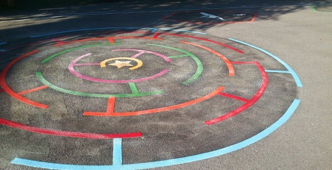 Multi Coloured Play Markings in Ansley Common