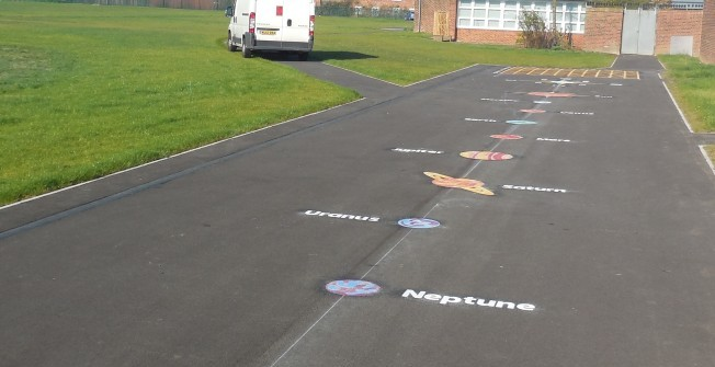 Secondary School Play Markings in Bolton Upon Dearne